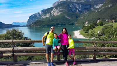 Lago di Molveno con bambini
