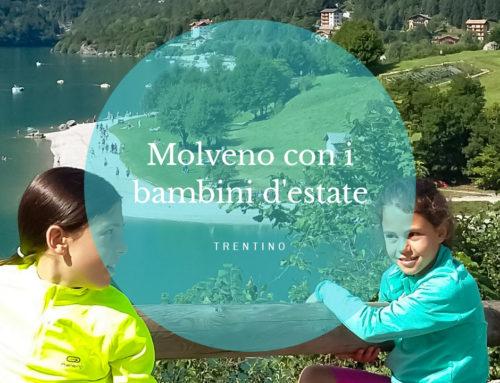 Lago di Molveno con i bambini d'estate